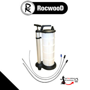 Oil Fluid Extractor 9L Vacuum Syphon Manual Coolant Water