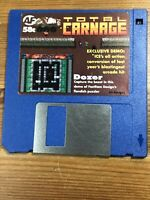 Amiga Format - Magazine Demo Cover disk 58c Total Carnage Dozer TESTED WORKING