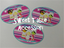 20 etichette set festa compleanno accessori sweet table SPA party torta ovali