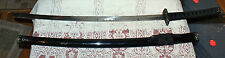 Chinese Made Katana With Black Lacquered Wood Sheath and Stainless Steel Blade