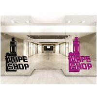 Vape Shop Window Stickers Vaping signs Wall Decal Colour Art