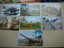 China 2017 Dinosaurs FDC Maximum Card full set of 7 maxi Card by Personal Made