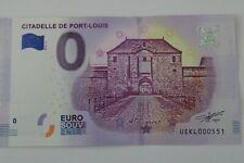 BILLET 0 EURO SOUVENIR  2018 CITADELLE DE PORT LOUIS