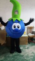 Advertising Blueberry Fruit Mascot Costume Christmas Party Dress Adult Cosplay #