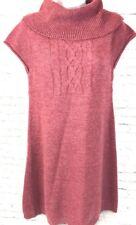 Vintage MUDD Sweater Dress Junior XL Mauve Acrylic Wool Cowl Neck Cap Sleeve