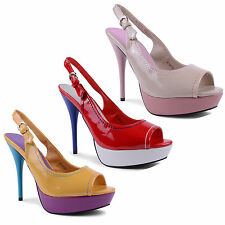 "Women's Very High Heel (greater than 4.5"") Synthetic Peep Toes Shoes"