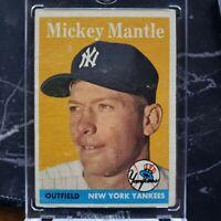 1958 Topps Mickey Mantle New York Yankees #150 Baseball Card