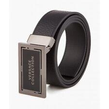 Versace reversibile LOGO Rettangolo Versus Cintura Nero//Rosso