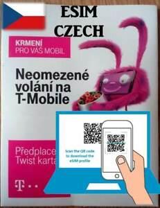 ESIM - NEW! T-mobile Czech SIM CARD with 10 CZK money Internet micro/nano Prague