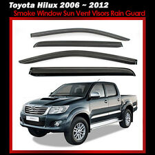 New Smoke Window Sun Vent Visors Rain Guard 4P for Toyota Hilux 2006 ~ 2011 2012