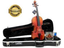 DLuca Strauss 700 Opera Violin Antique Finish SKB Case, Dominant Strings & Tuner