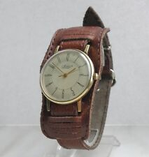 Very Rare VIMPEL ВЬIМПЕЛ Gold Plated Luch 1MChZ Kirova Slim watch Soviet USSR