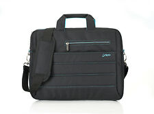 Bipra 15,6 pulgadas portátil bolsa con correa de hombro Negro (carbón Negro/azul)