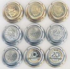"""Champagne Générique Disparition du Franc 20 ans déja""""rect/verso réf 1192 à 1192h"""
