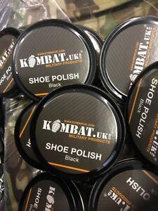 BLACK BOOT POLISH Military Army Cadet High Gloss Parade Shoe Shine Shiny Noir