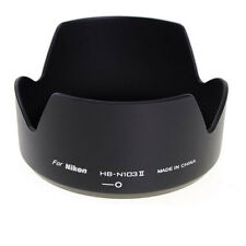 HB-N103 II Black Lens Shade Hood for Nikon 1 V1 J1 NIKKOR VR 10-30mm HBN103II