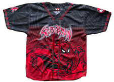 Vintage Marvel Comics Spider-Man Men's Baseball Jersey Size Large (2001)