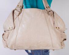 STEVEN Large Tan  Leather Shoulder Hobo Tote Satchel Purse Bag