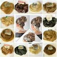STRANDED CURLY WAVY FLICKY HAIR MESSY SCRUNCHIE WRAP UPDO HAIRPIECE.VARIOUS SIZE