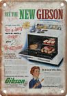 """Gibson Gas Range Stove Vintage Ad 10"""" X 7"""" Reproduction Metal Sign ZF197 photo"""