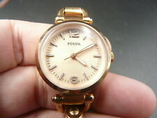 NEW OLD STOCK FOSSIL ES3268  ROSE GOLD QUARTZ LADY WOMEN WATCH