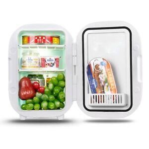Portable Fridge Mini Refrigerator Freezer Car Icebox 6L 2in 1 Dual Use Cooler