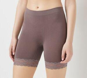 BREEZIES Long Leg Panty w/Lace  - 1 pair