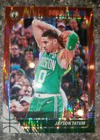 2019-20 Panini Hoops Premium Stock Red Flash Prizm Jayson Tatum Celtics SP