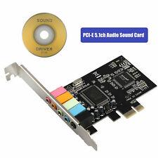 PCI-E Express 5.1ch CMI8738 Audio Sound Card w/Low Profile Bracket US Stock MB