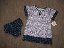 JUICY COUTURE ORIGINAL Vestido de algodón & pañales CONJUNTO NIÑA 12-18 meses RT