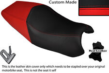RED & BLACK CUSTOM FITS DUCATI ST3 DUAL REAL LEATHER SEAT COVER ONLY