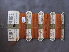 R388 Mercerie ancienne carte fil 4 bobines LAINE SAINT PIERRE brun Lyon Paris