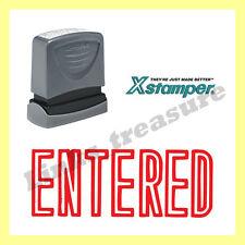 { ENTERED } Xstamper VX Series Red Pre-Inked Self-Inking Rubber Stamp #1021