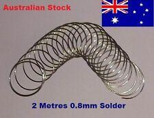 2 Metres 0.8mm 60/40 Rosin Core Solder 2.0 Flux Wire Reel Soldering Tin Lead Mtr