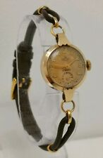 Vtg 1954 Smiths Deluxe 9ct Solid Gold 15 Jewel Ladies Cocktail Wrist Watch 5.2g