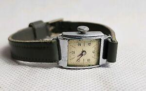 Vintage 1940s Swiss Made Ladies Mechanical Watch.