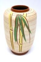 50er Jahre Keramik Vase Palmen