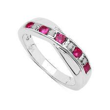 Gioielli di lusso rosa tonda in argento sterling
