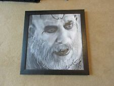 The Devil's Rejects/Etching of Sid Haig/Captain Spaulding/Signed/Wall Art/Framed