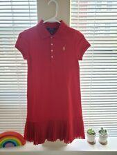NWT Polo Ralph Lauren Girl L(12-14) Short sleeves cotton Dress Red