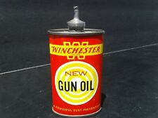 Vintage Winchester New Gun Oil 3 Oz. Lead Top Tin Can Handy Oiler