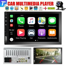 "7"" 2DIN Car Stereo Radio BT D-Play Touch Screen USB Handunit +Camera MP5 Player"