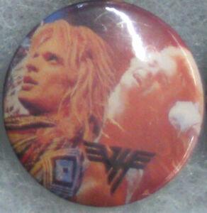 Van Halen - RARE ORIG 80's Pin Badge Button for hat/jacket/shirt VTG MeTaL Gem 1