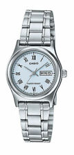 NEW Casio LTP-V006D-2B Women's Stainless Steel Watch Roman BLUE Dial Day Date