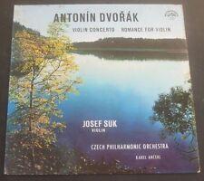Josef Suk -Dvorak  Violin Concerto / Romance Ancerl Supraphon SUA ST 50181 lp