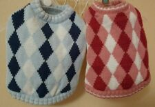 QUALITY DOUBLE DIAMOND KNIT DOG PUPPY JUMPER SWEATER SMALL MEDIUM SIZES