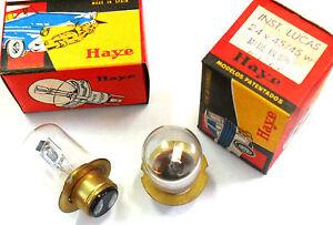 2X LAMPARA 24v 45/45w Lucas Light Bulb 2X BULBS Wagner 551