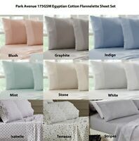 Park Avenue 175GSM Egyptian Cotton Flannelette Sheet Set 9-Colour Options
