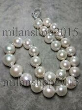 15-16MM AAAA GENUINE WHITE SOUTH SEA PEARL NECKLACE 14K
