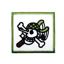 ONE PIECE Usopp Sniper Pirates Skull Flag Symbol Anime Comic Shirt Iron on Patch